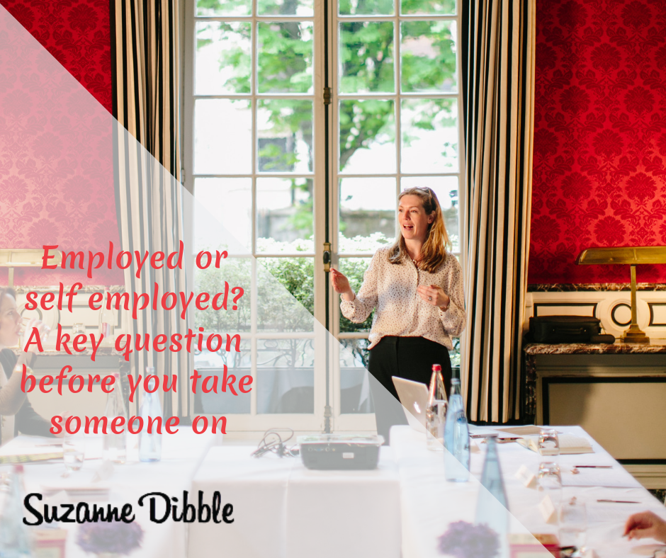 Employed or self employed? A key question before you take someone on