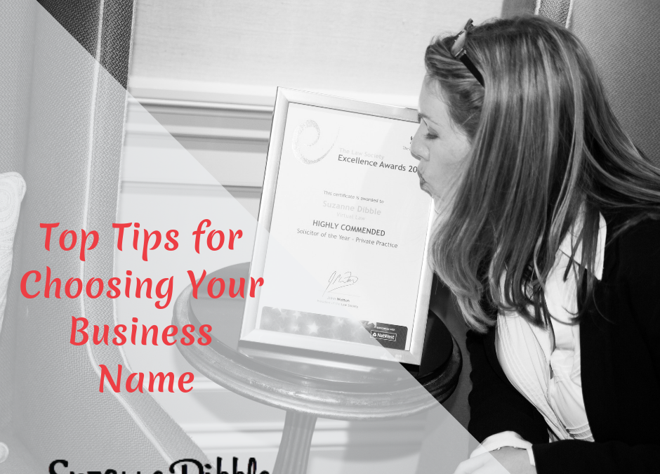 Top Tips for Choosing Your Business Name
